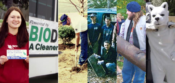 2004-2005: EcoHusky supported a Biodiesel Demonstration, Storm Drain Marketing, Fenton and Willimantic River Clean-ups, Earth Day, Rain Garden Planting, a Vernal Pool Study, and more!