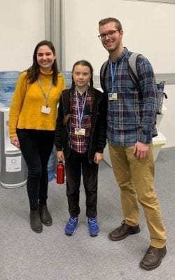 COP24 students with Greta Thunberg!